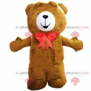 Stor brun teddy maskot, brunbjørn kostyme - Redbrokoly.com