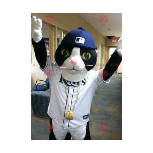 Black and white cat mascot - Redbrokoly.com