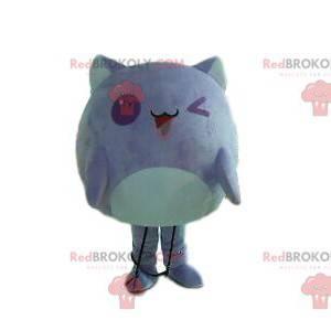 Maskot fialové monstrum, kostým fialové stvoření -