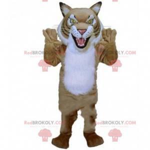 Divoký tygr maskot, kočičí kostým, přestrojení za mourek -