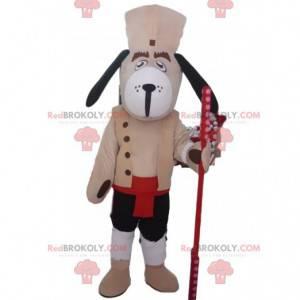 Blindenhundemaskottchen, braunes Hundekostüm - Redbrokoly.com