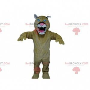 Roaring tiger mascot, tiger costume, dangerous animal -