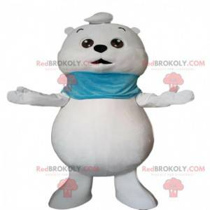 Little white bear mascot, teddy bear costume - Redbrokoly.com
