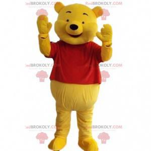 Mascote do Ursinho Pooh, famosa fantasia de urso amarelo -