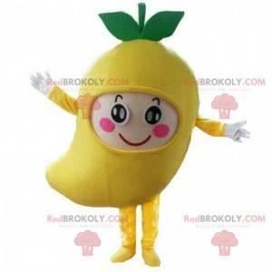 Mango mascot, fruit costume, exotic fruit disguise -