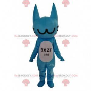 Mascota gato azul, traje personalizable, animal azul -