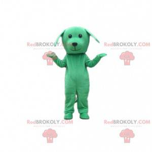 Green dog costume, doggie mascot, green disguise -