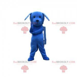 Blaues Hundemaskottchen, blaues Kostüm, blaues Tier -
