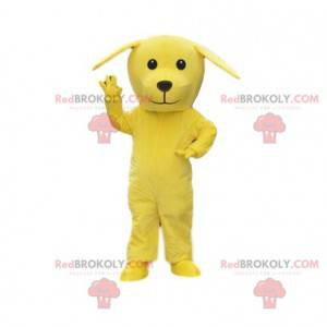 Gelbes Hundemaskottchen, riesiges Hundekostüm, gelbes Tier -