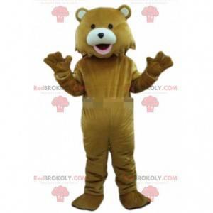 Maskot hnědý medvídek, kostým medvěda, medvídek - Redbrokoly.com
