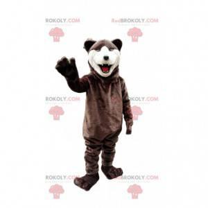Maskot medvěda, kostým medvěda hnědého, divoké zvíře -