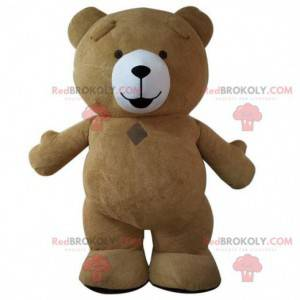 Großes Braunbärenmaskottchen, braunes Teddybärkostüm -