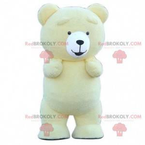 Aufblasbares gelbes Teddy-Maskottchen, gelbes Bärenkostüm -