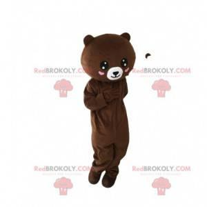 Teddy bear mascot with hearts, bear costume - Redbrokoly.com