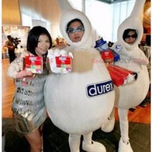 2 bílí maskoti značky Durex - Redbrokoly.com