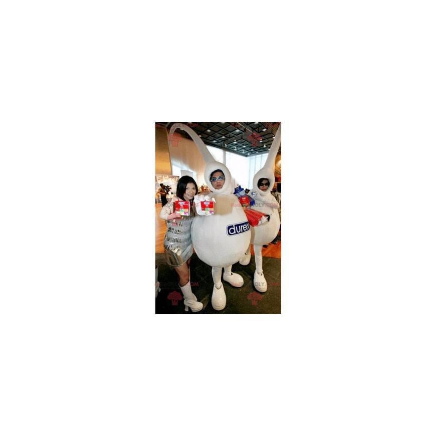 2 white mascots of the Durex brand - Redbrokoly.com