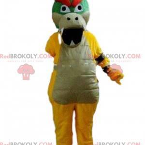 Heftiges Drachenmaskottchen, buntes Drachenkostüm -