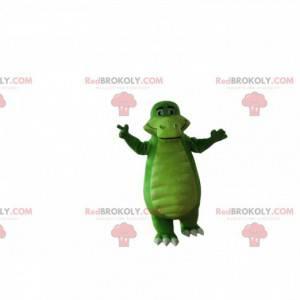 Zelený krokodýlí maskot, obří aligátorský kostým -