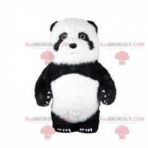 Svart og hvit panda maskot, asiatisk bjørnedrakt -
