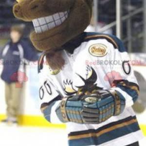 Brown and yellow caribou elk mascot - Redbrokoly.com