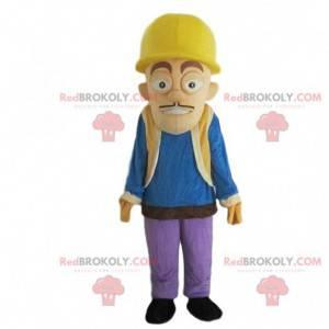 Pracovník maskot, stavební muž s přilbou - Redbrokoly.com