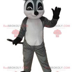 Maskot šedý a bílý lemur, kostým tchoř - Redbrokoly.com