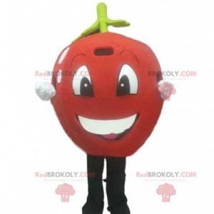 Rotes Apfelmaskottchen, rotes Kirschkostüm, Riesenfrucht -