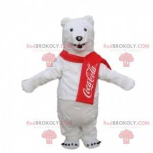 Polar bear mascot, Coca Cola costume, white teddy bear -