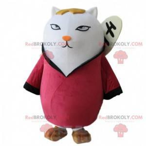 Großkatzenmaskottchen im traditionellen asiatischen Outfit -
