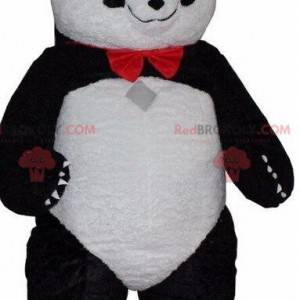 Maskot černé a bílé pandy, kostým asijského medvěda -