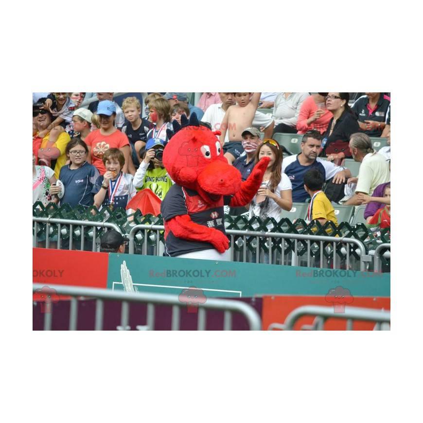 Red and black dinosaur dragon mascot - Redbrokoly.com