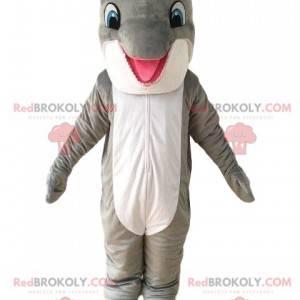 Maskot šedý a bílý delfín, mořský kostým - Redbrokoly.com