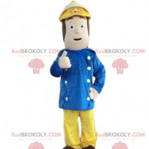 Maskot hasič, maskot ohně, oheň muž - Redbrokoly.com