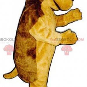 Mascote ouriço marrom e amarelo - Redbrokoly.com