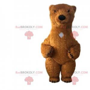 Velký maskot hnědého medvěda, kostým obřího medvídka -