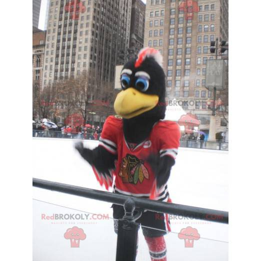Black red and white eagle mascot - Redbrokoly.com