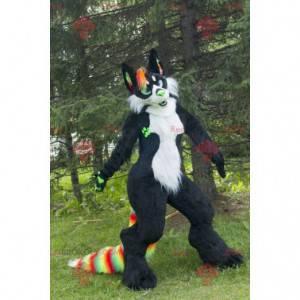 Black and white fox cat mascot - Redbrokoly.com
