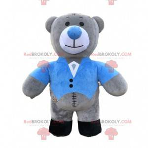 Inflatable teddy bear mascot, gigantic gray bear costume -