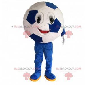 Kulatý fotbalový míč maskot, fotbalový zápas kostým -