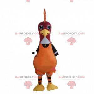 Rooster mascot, turkey, bird costume, colorful guinea fowl -