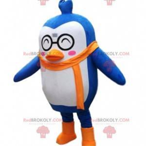 Maskot modrý a bílý tučňák, kostým tučňáka - Redbrokoly.com