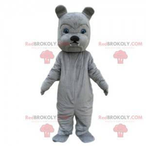 Šedý buldok maskot, kostým psa, nezbedný pes - Redbrokoly.com