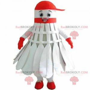 Badminton shuttlecock mascot, racket sports mascot -