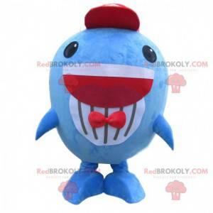Stor blå fisk maskot, morsom hval kostyme - Redbrokoly.com
