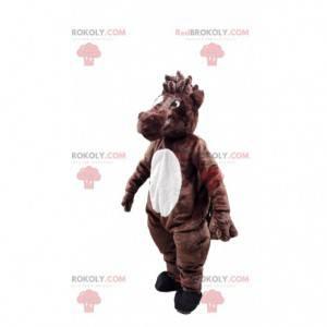 Hnědý a bílý kůň maskot, jezdecký kostým - Redbrokoly.com