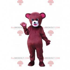 Red and pink bear mascot, teddy bear costume - Redbrokoly.com