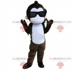 Maskot opice se slunečními brýlemi, letní kostým -