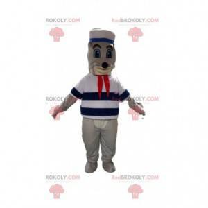 Mascotte leone marino, costume leone marino, mascotte marinaio