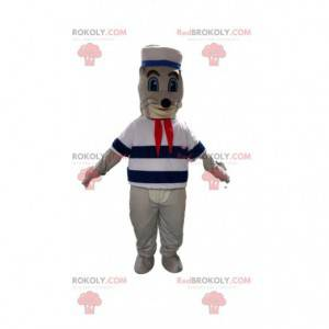 Sea lion mascot, sea lion costume, sailor mascot -