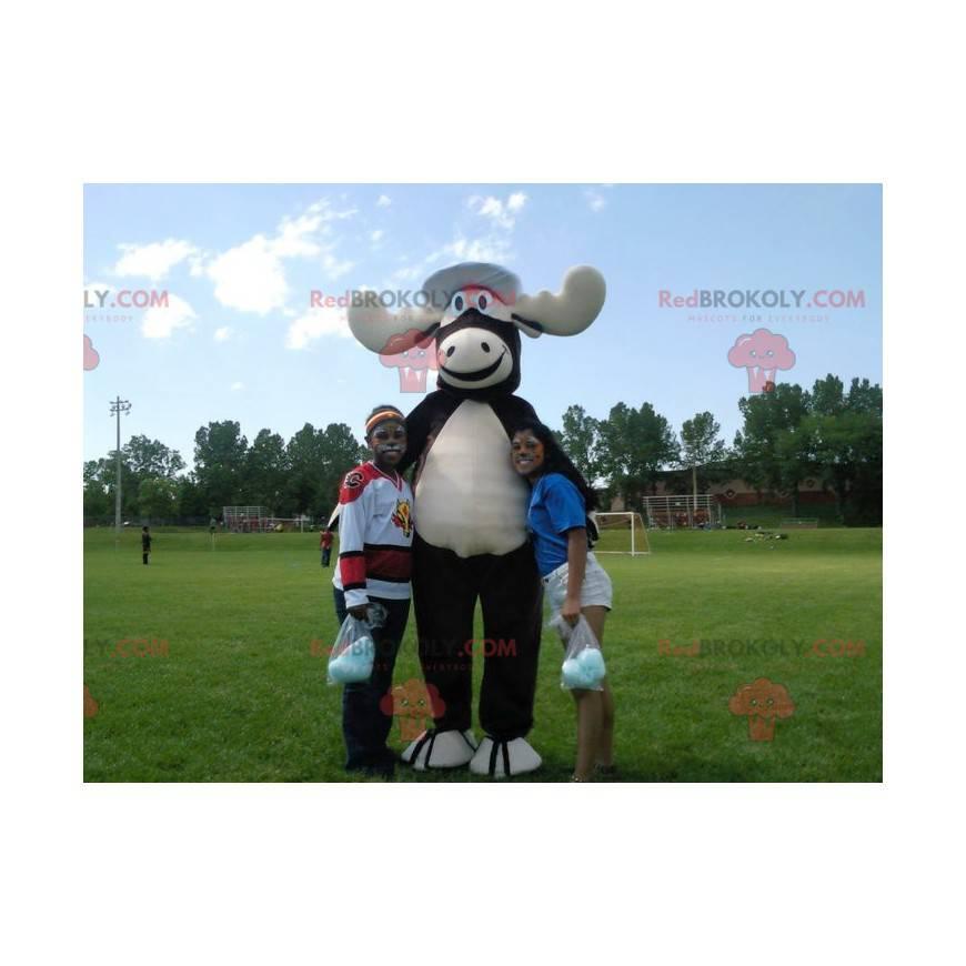 Maskot černé a bílé losí karibu - Redbrokoly.com